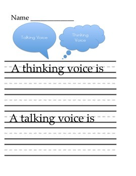 Thinking Voice and Talking Voice
