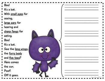 Thinking about Bats: Smart Charts and Writing Frames