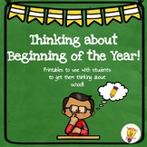 Back to School: Thinking about Beginning of the Year