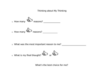 Thinking about My Thinking: Graphic Organizers for Making Choices