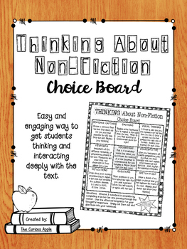 Thinking about Non-Fiction Choice Board