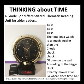 Literacy Center activities: Think about TIME