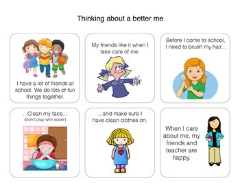 Social Story: Thinking about a better me