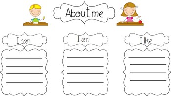 Thinking about back to school- printables to organize thinking and writing