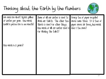 Thinking about the Earth by the Numbers