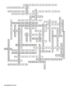 Thinking and Intelligence Vocabulary Crossword For Psychology