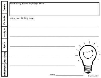 Thinking and Writing with Pictures: Bloom's Taxonomy for Little Thinkers ‬