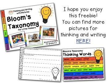Thinking and Writing with Pictures: Bloom's Taxonomy for Little Thinkers FREEBIE