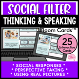 Thinking before Speaking Social Filter and Perspective Taking No Prep Boom Cards