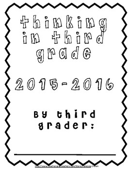 Thinking in Third: Back to School work packet for students UPDATED 2017-2018