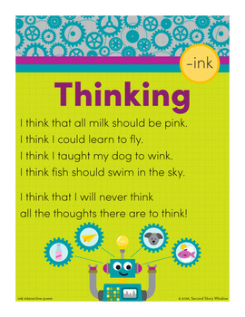 Thinking - ink Word Family Poem of the Week