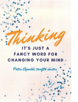 Thinking motivational poster English Spelling Reading