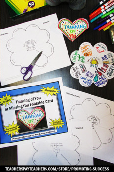 Thinking of You Card for Students to Make, Missing You