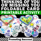 Thinking of You Cards for Students to Make, Missing You Greeting Card Template