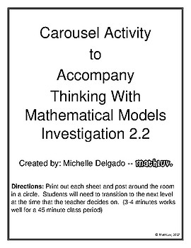 Thinking with Math Models Investigation 2 Carousel Activity