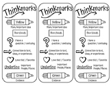 Thinkmarks Bookmarks For Close Reading or Annotating Text