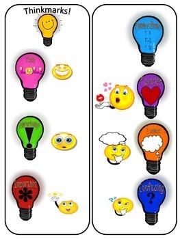 Thinkmarks Bright Ideas Bookmark