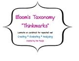 """Thinkmarks"" based on Bloom's Taxonomy"