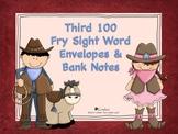 Third 100 Fry Sight Word Envelopes & Bank Notes