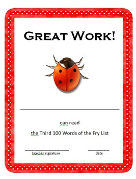 Fry Sight Words Book - Third 100 Words