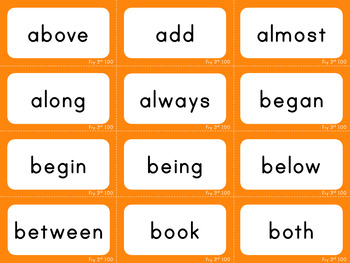Third 100 - Fry Sight Words - Flash Cards