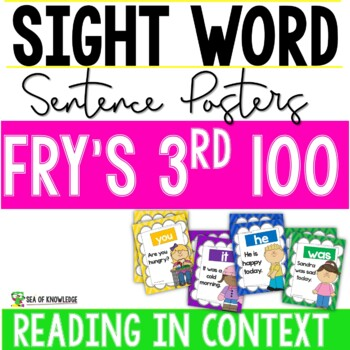 Third 100 Fry Sight Words {Sentence Posters} K-G2