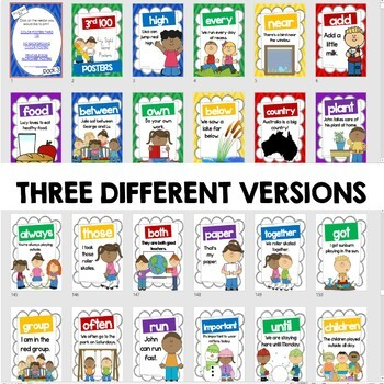 Sight Word Sentence Posters - Fry's Third 100