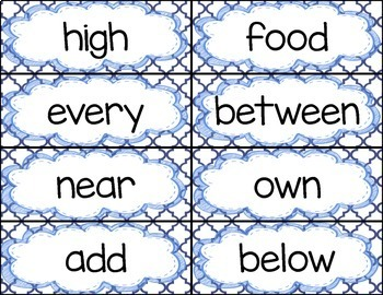 Third 100 Fry Word Rings/Word Wall Words/Flash Cards (201-300)
