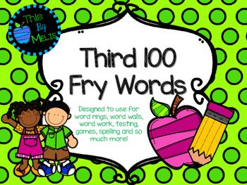 Third 100 Fry Words