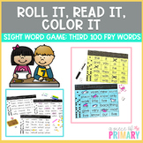 Third 100 Fry Words Roll It, Read It, Color It