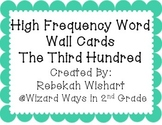 Third 100 High Frequency Words- Word Wall Cards