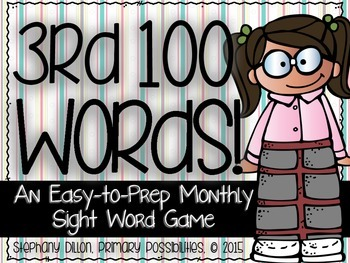 Third 100 Sight Words {An Easy to Prep Game}