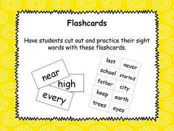 Third 100 Sight Words Pack