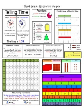 Third (3rd) Grade Math Homework Helper - Common Core