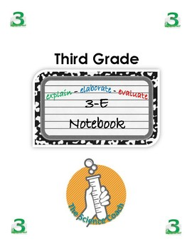 Third (3rd) Grade Science Notebook English AND Spanish in One