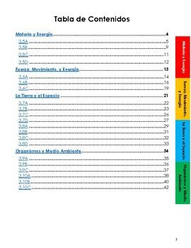 Third (3rd) Grade Science Notebook SPANISH