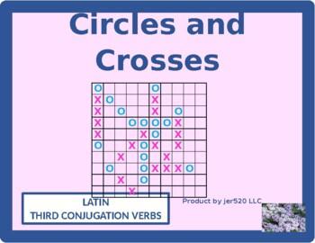 Third Conjugation Latin verbs Mega Connect 4 game