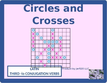 Third Conjugation -io Latin verbs Mega Connect 4 game