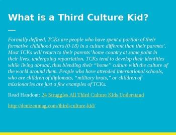Third Culture Kid Short Film Video Lesson Plan
