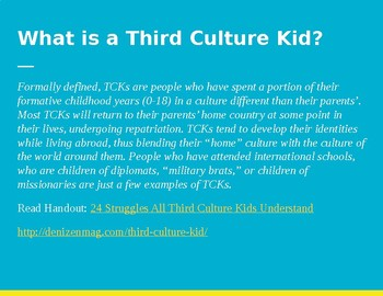 (Foreign Language Week) Third Culture Kid Short Film Video Lesson Plan