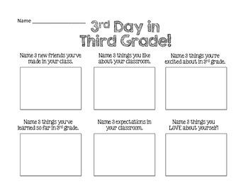 Third Day in Third Grade