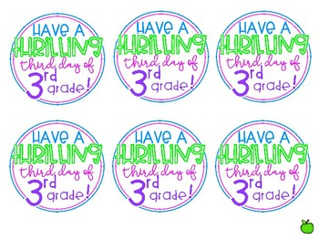 Third Day of School Gift Tags FREEBIE