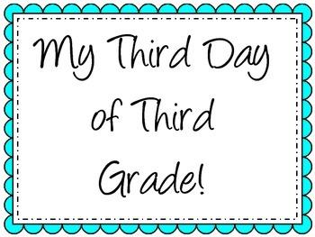 Third Day of Third Grade Sign