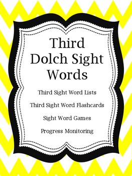 Third Dolch Sight Word Flashcards and Games