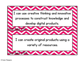 Third-Fifth Grade TEKS I Can Statement Cards- Technology Applications