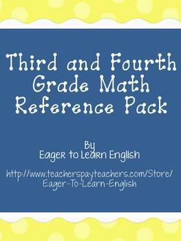 Third & Fourth Grade Math Reference Pack