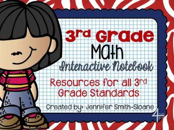 Third, Fourth and Fifth Grade Math Interactive Notebook Bundle