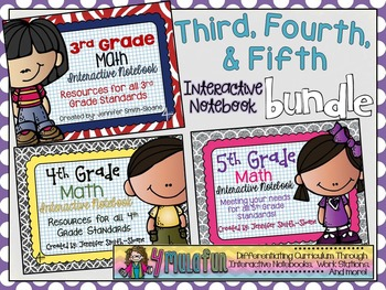 Third, Fourth and Fifth Grade Interactive Notebook Bundle
