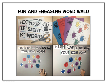 Third Fry Sight Words - High Five Word Wall