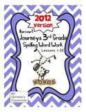 Third Grade 3rd Grade Journeys 2012 Spelling Word Work Act